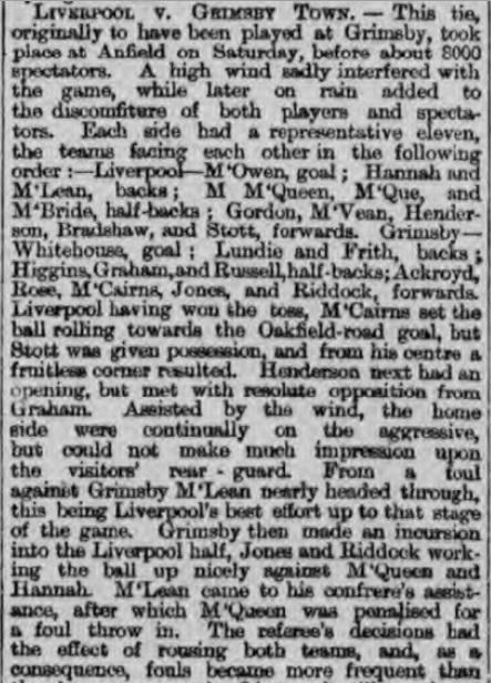 1894 LFC v Grimsby Town 1