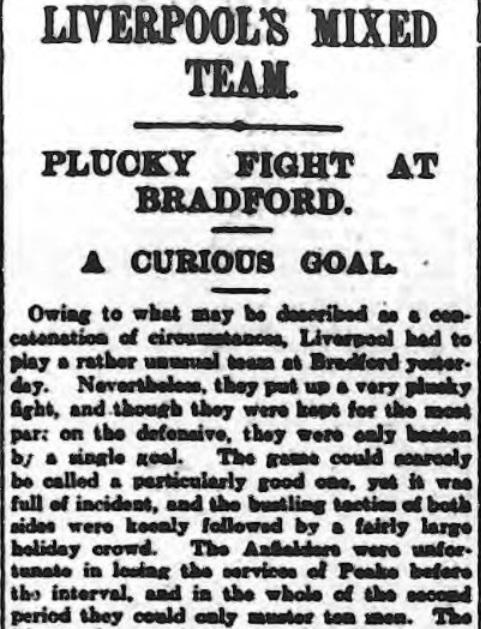 1914 Bradford City v LFC 1
