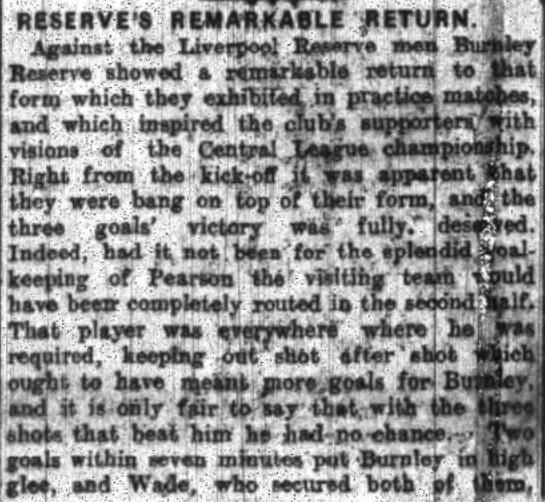 1922 Burnley Res v LFC Res 1