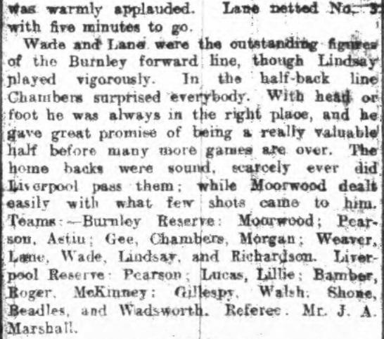 1922 Burnley Res v LFC Res 2