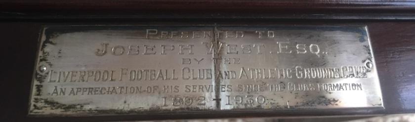Joe West plaque