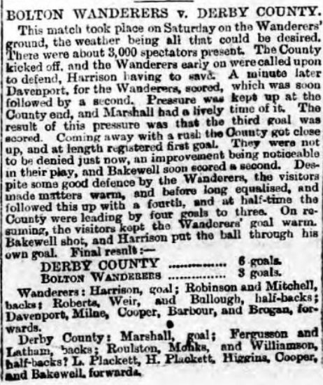 1888 Bolton Wanderers v Derby County 1