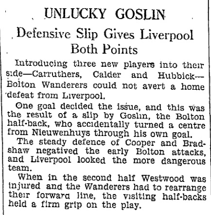 1937 Bolton Wanderers v LFC 1