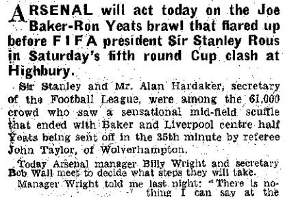 1964 Arsenal v LFC FA Cup 1