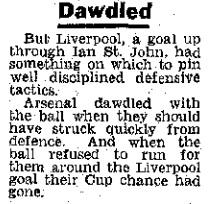 1964 Arsenal v LFC FA Cup 6