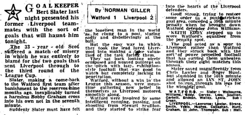 1969 Watford v LFC 1