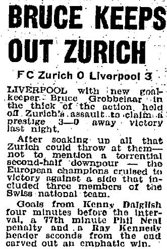 1981 Zurich v LFC friendly