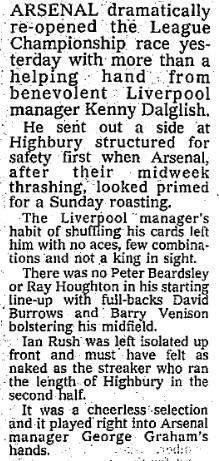 1990 Arsenal v LFC 1