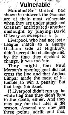1990 Arsenal v LFC 2