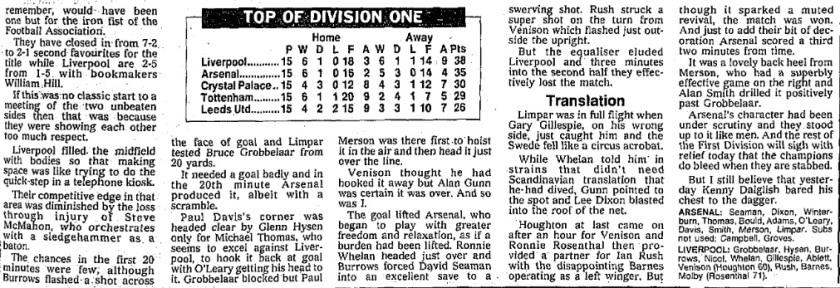 1990 Arsenal v LFC 3