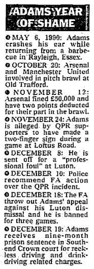 1990 Tony Adams 1