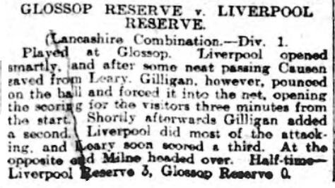 1910 Glossop Res v LFC Res