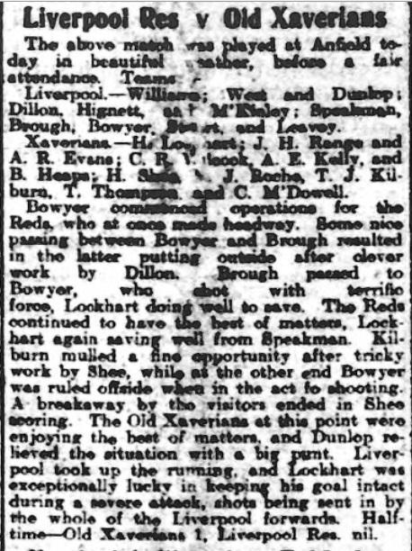 1910 LFC Res v Old Xaverians
