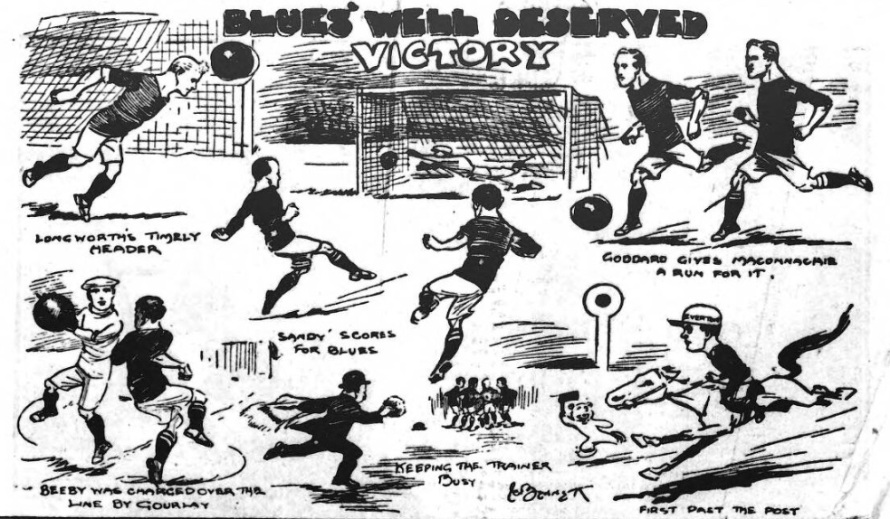 1910 LFC v EFC cartoon match 1