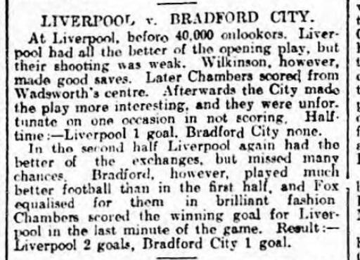 1921 LFC v Bradford City 1
