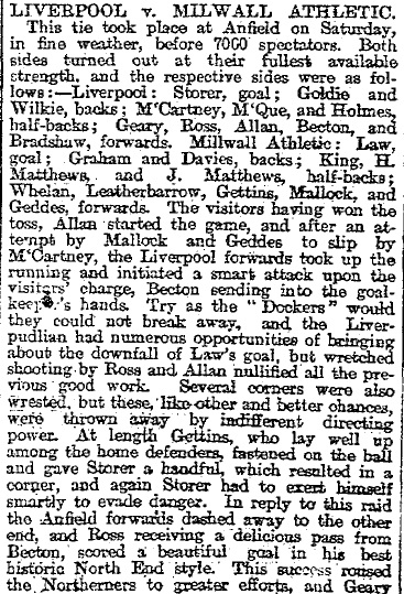 1896 LFC v Millwall 1
