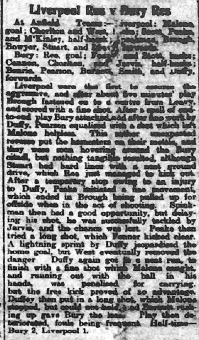 1910 LFC Res v Bury Res 1