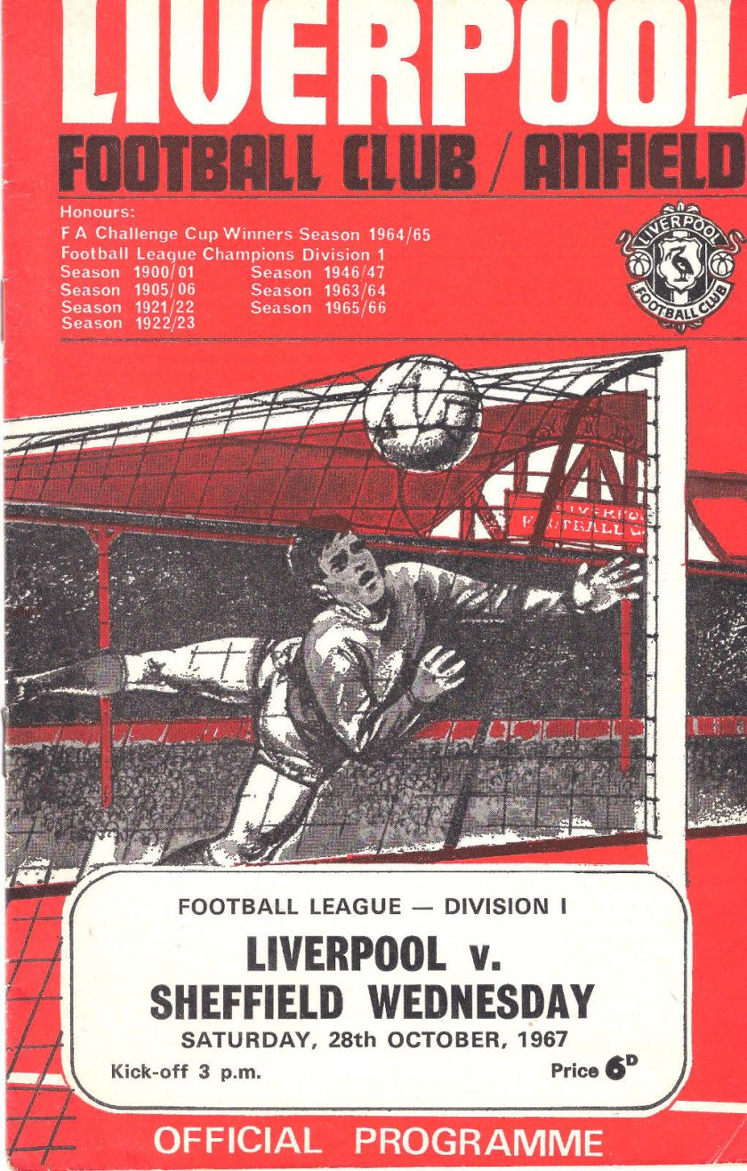 1967 LFC v SWFC Match programme