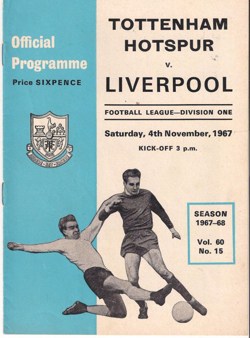 1967 Spurs v LFC Match programme