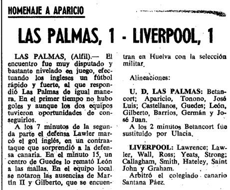1968 Las Palmas v LFC 1
