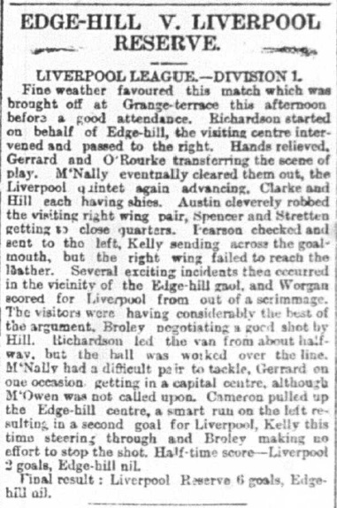 1893 Edge Hill v LFC Res