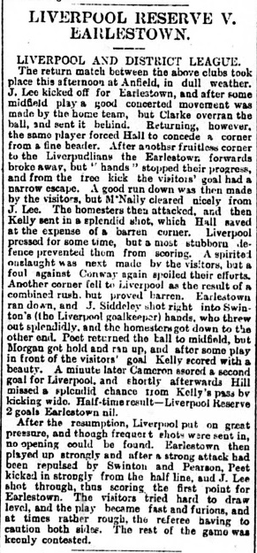 1893 LFC Res v Earlestown