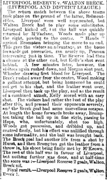 1893 Walton Breck v LFC Res
