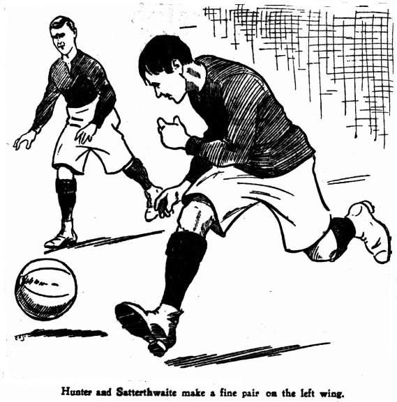 1904 Arsenal John Sailor Hunter and Charles Satterthwaite