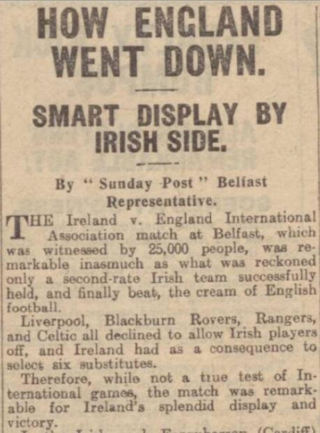 1923 Ireland v England 1