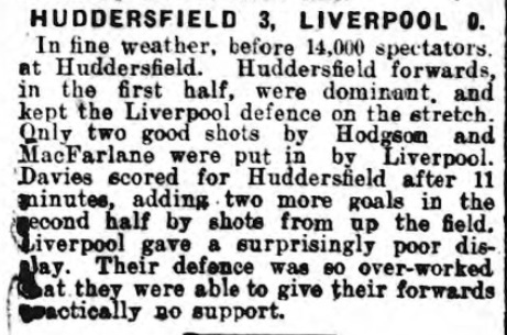 1929 Huddersfield v LFC Sheffield Independent 1929 1930