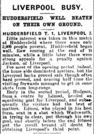 1929 Huddersfield v LFC Sheffield Independent