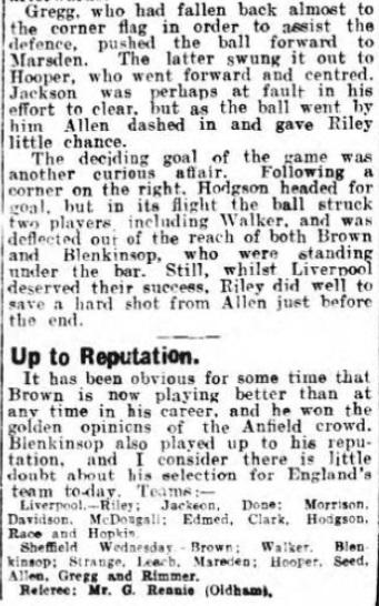 1929 LFC v Sheff Wed 4