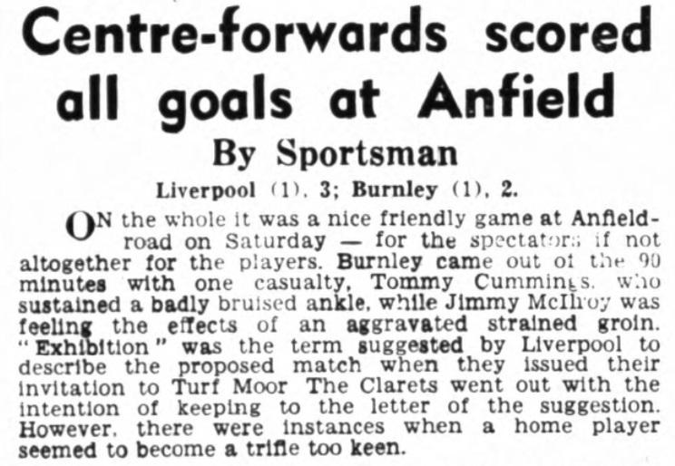 1953 Burnley friendly 1