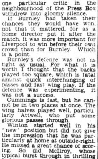 1953 Burnley friendly 5