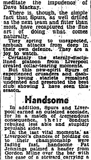 1967 Spurs v LFC D Express 1 april 2