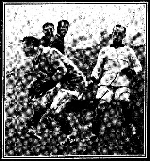 1922 Arsenal v Liverpool Williamson saving Daily Mirror 4 Sep