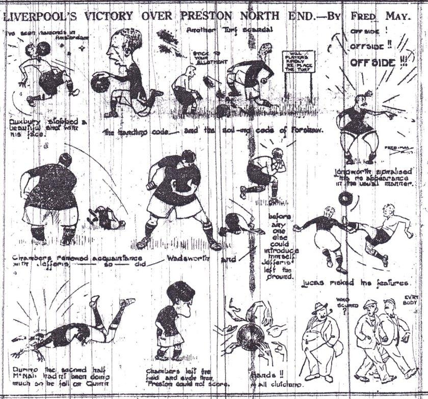 1922 PNE v LFC sketch Liverpool Echo