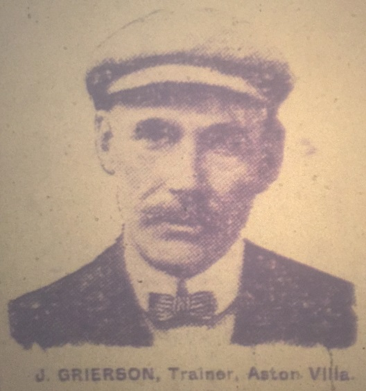 ASton Villa trainer Grierson 1913