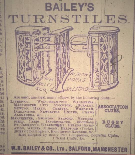 Turnstiles ad 1899 1900