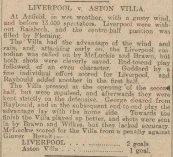 1903 LFC v Aston Villa
