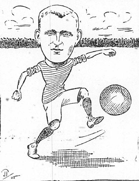 1905 Sketch Alex Raisbeck 2 September Football Echo