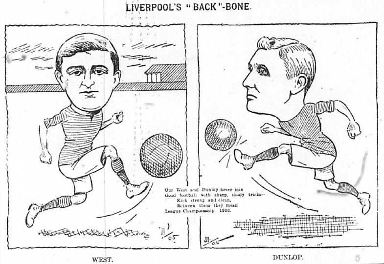 1905 Sketch Alf West and William Dunlop 23 December Echo