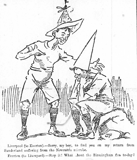 1905 Sketch Liverpool sorry to Everton 23 September Football Echo
