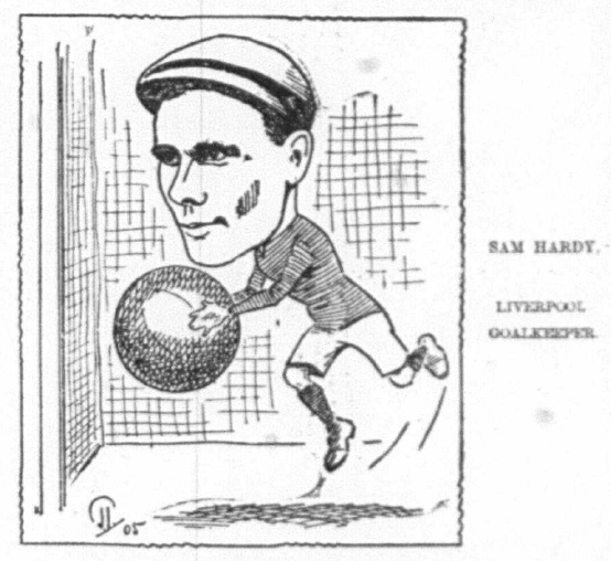 1905 Sketch Sam Hardy 28 October Echo
