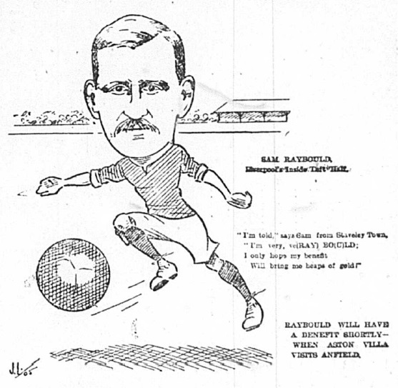 1905 Sketch Sam Raybould 7 October Football Echo