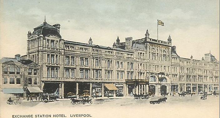 1906 Exchange station hotel Liverpool