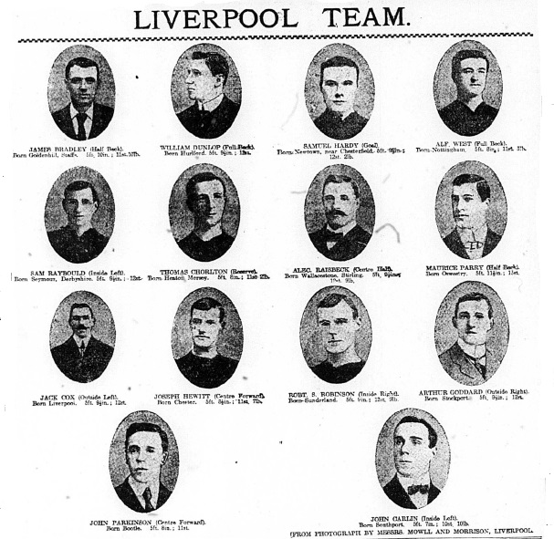 1906 League winners - whole team Echo 21 April