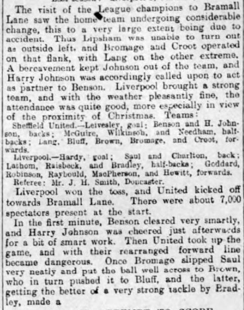 1906 Sheff Utd v LFC 1 Sheffield Evening Telegraph