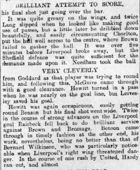1906 Sheff Utd v LFC 2 Sheffield Evening Telegraph