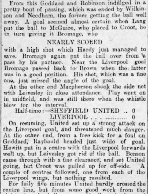 1906 Sheff Utd v LFC 4 Sheffield Evening Telegraph